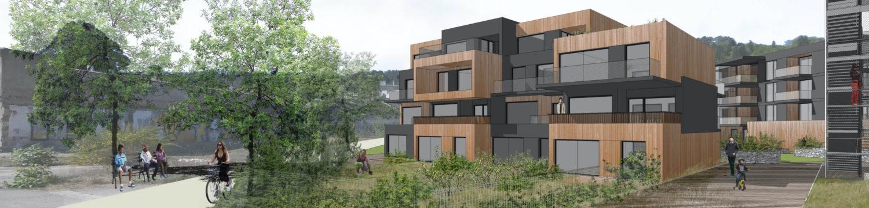 Image 3D de l'écoquartier